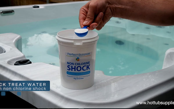 Clean & Shock The Hot tub Once a Week