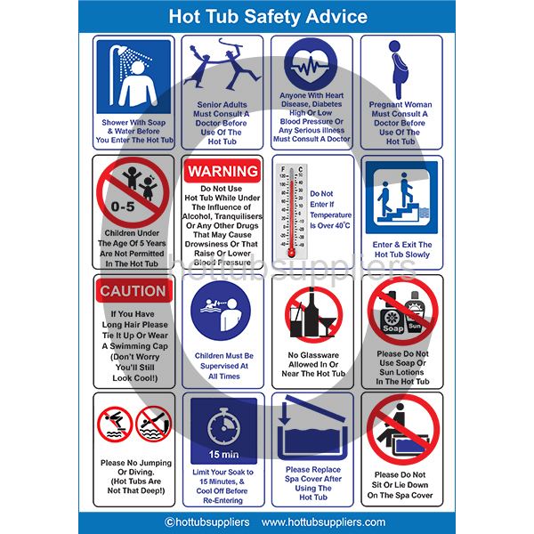 Hot Tub Safety Poster