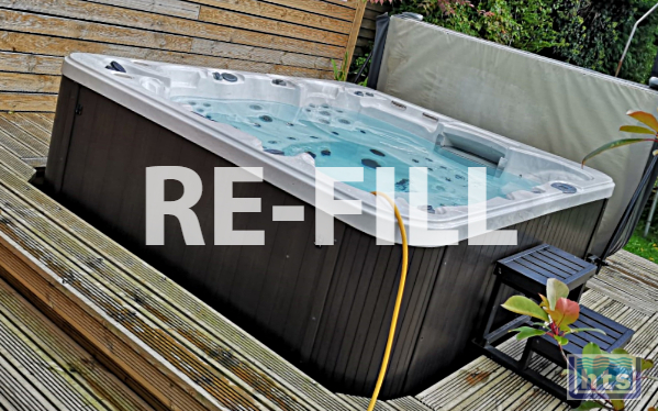 Refill the Hot Tub With Fresh Water